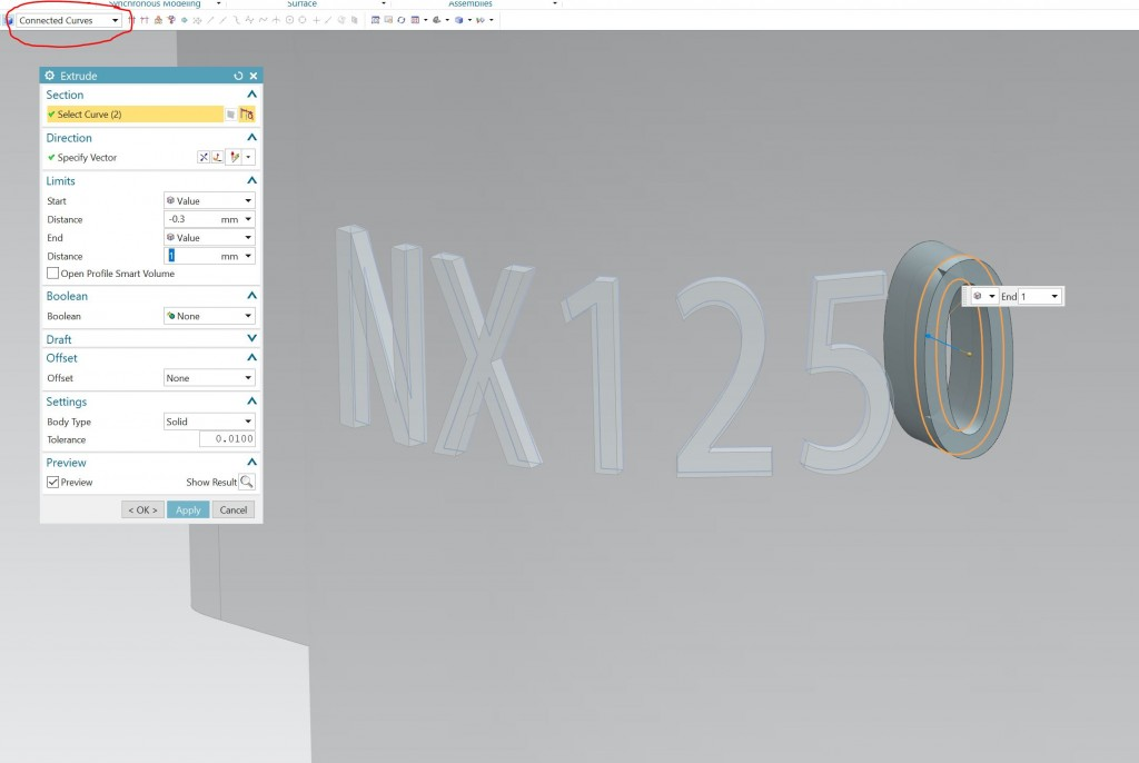 Extrude Letters